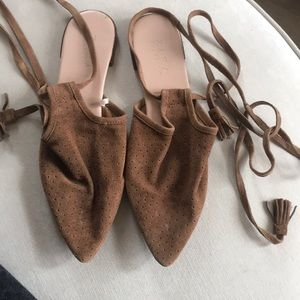 Zara soft and comfortable lace-up flats